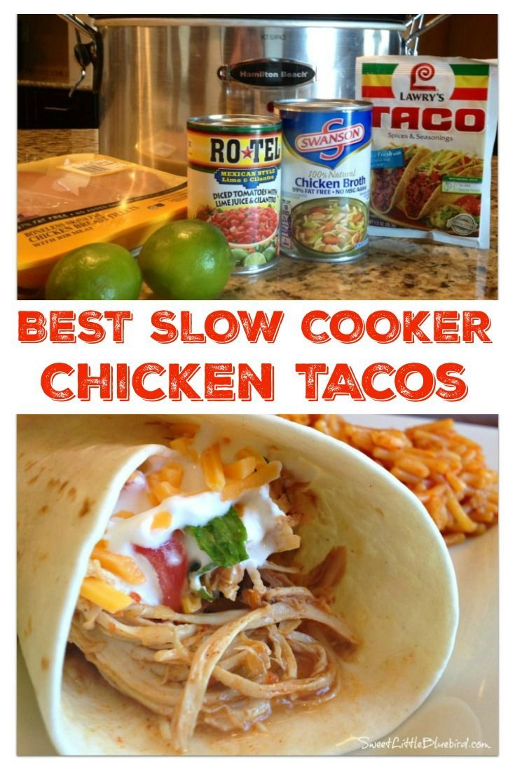 Photo of Slow Cooker Shredded Chicken Tacos and Burritos
