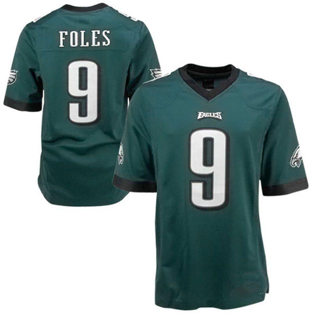 11e779956f1 ... Nike 9 QQQKOIW Mens Adult Football Jerseys Nick Foles 9 Philadelphia  Eagles Green Sports fans jersey ...