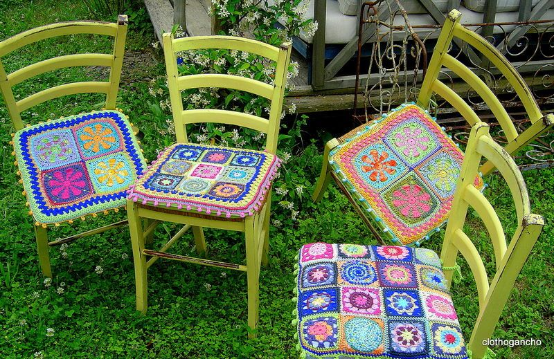 Gorgeous Crochet Seat Cushions Crafts Crochet Pinterest