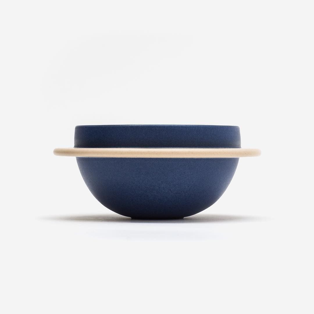 """Featured: Hélène Morbu's Saturne Bowl earns its name from the delicate ring of different colored clay that is carefully attached to its body. Handmade in…"""
