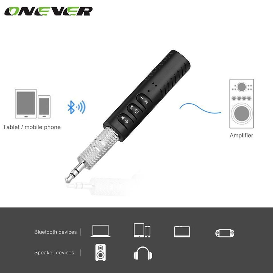 Universal 3 5mm Jack Bluetooth Car Kit Hands Free Music Audio