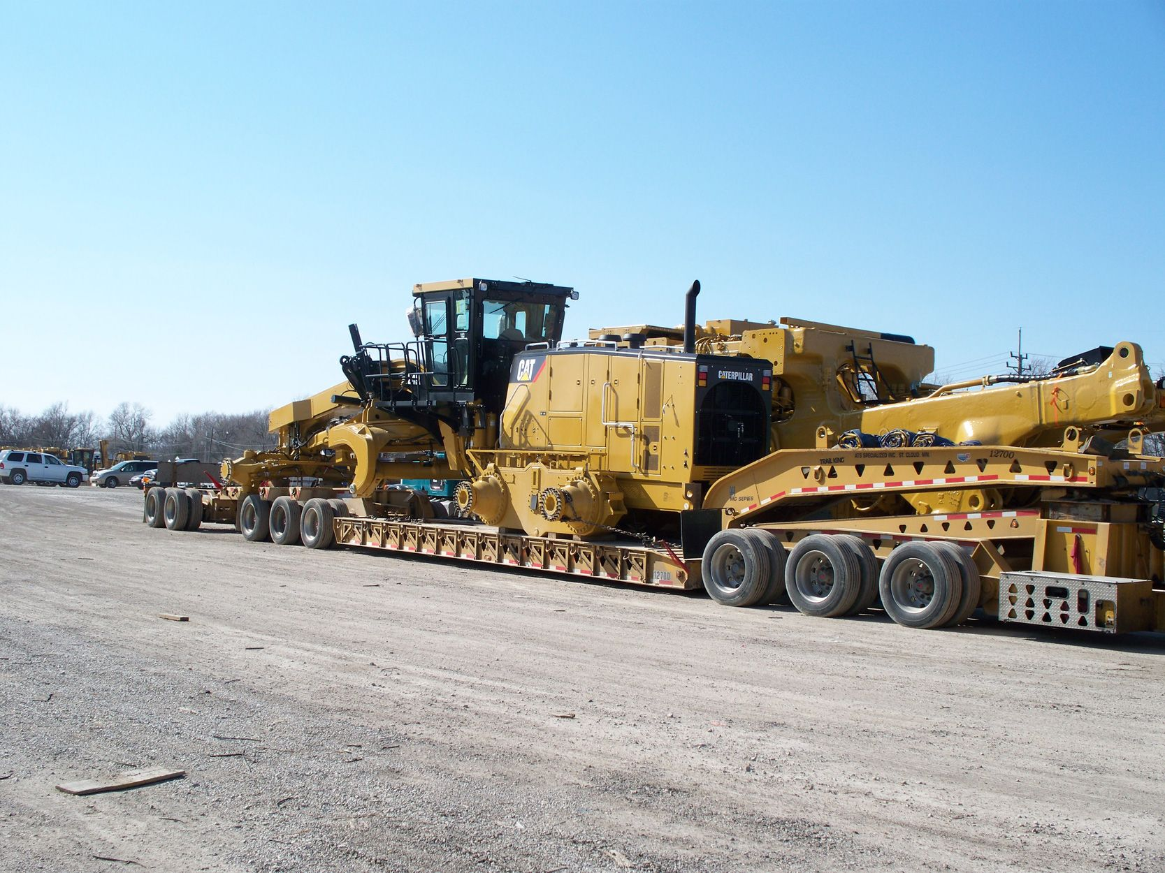 Looks Like A Cat 24m In The Foreground Less Its Tires And