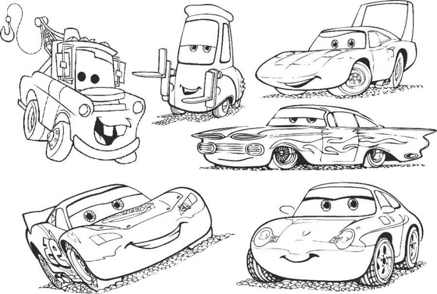 Coloriage Cars et Cars 2 et dessins de Flash Mc Queen