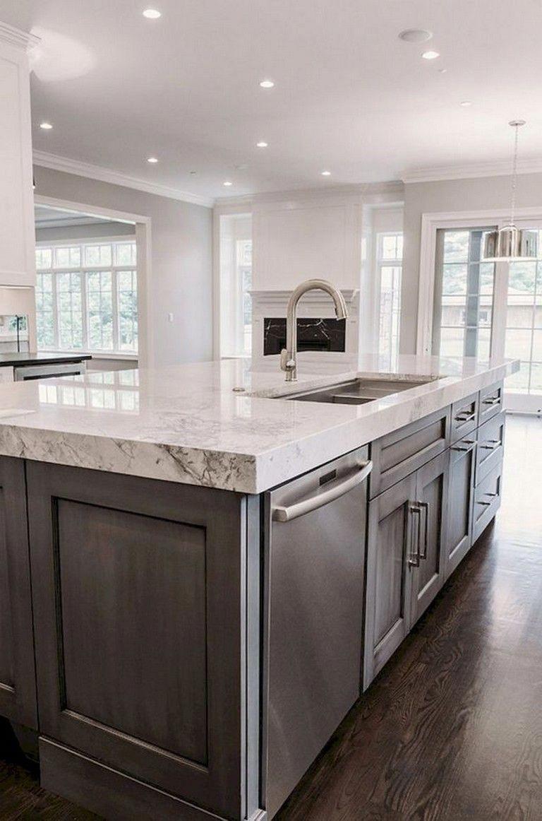 70 Amazing Farmhouse Gray Kitchen Cabinet Design Ideas Farmhouse Kitchencabinets Designidea To Kitchen Cabinet Design Grey Kitchen Cabinets Kitchen Design