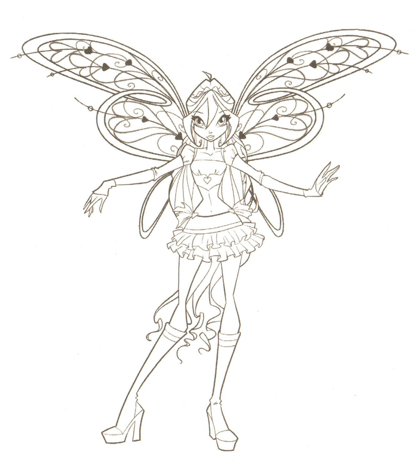 free printable valentine coloring pages winx club coloring pages