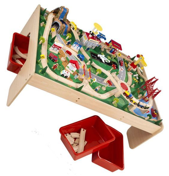 Brio train table-Jensen made a beautiful train table for the boys to use for  sc 1 st  Pinterest & Brio train table-Jensen made a beautiful train table for the boys to ...
