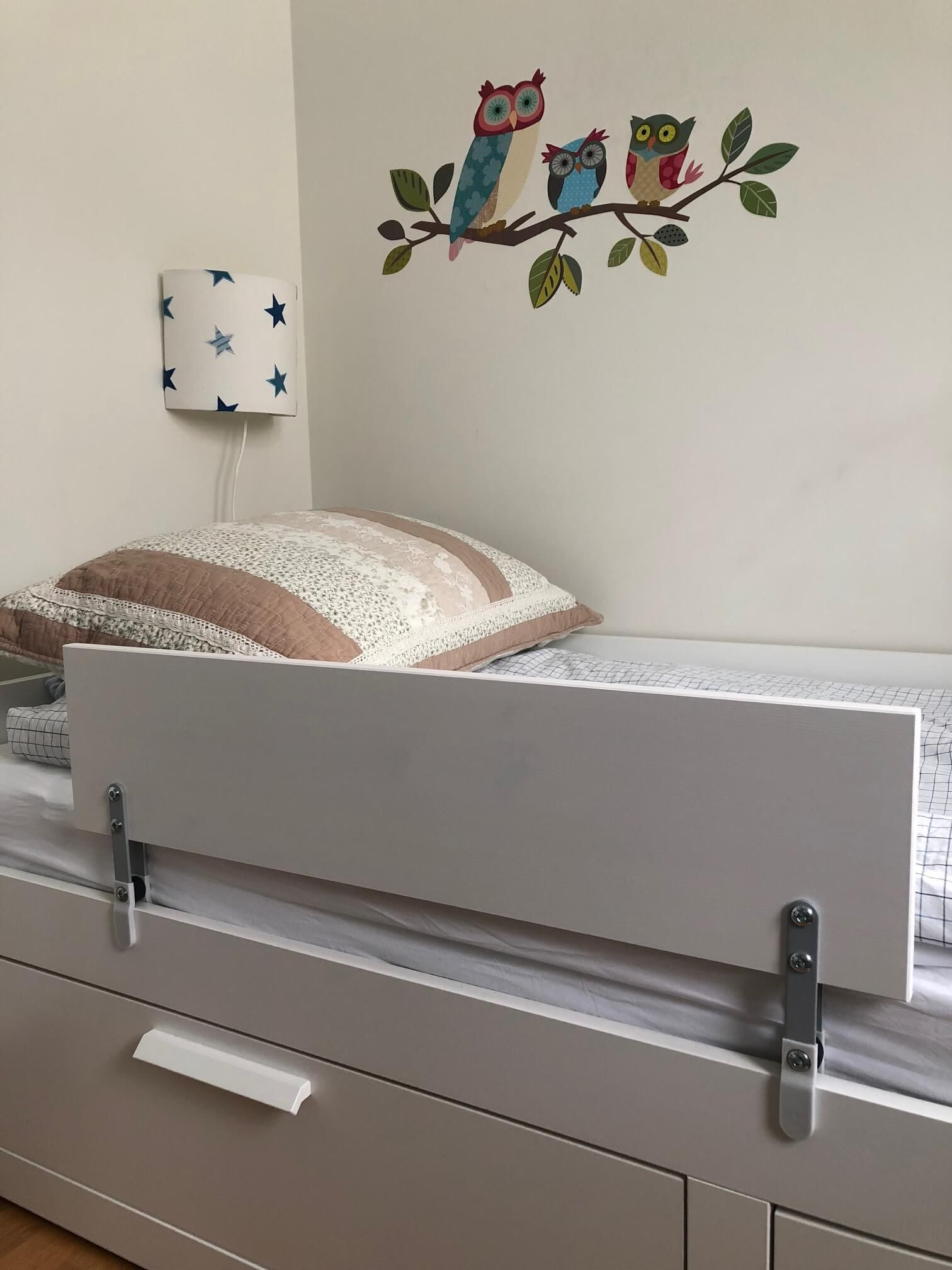 This Guard Rail Will Stop Your Kid From Rolling Off The Bed Ikea Hackers Diy Toddler Bed Ikea Bed Bed Rails For Toddlers