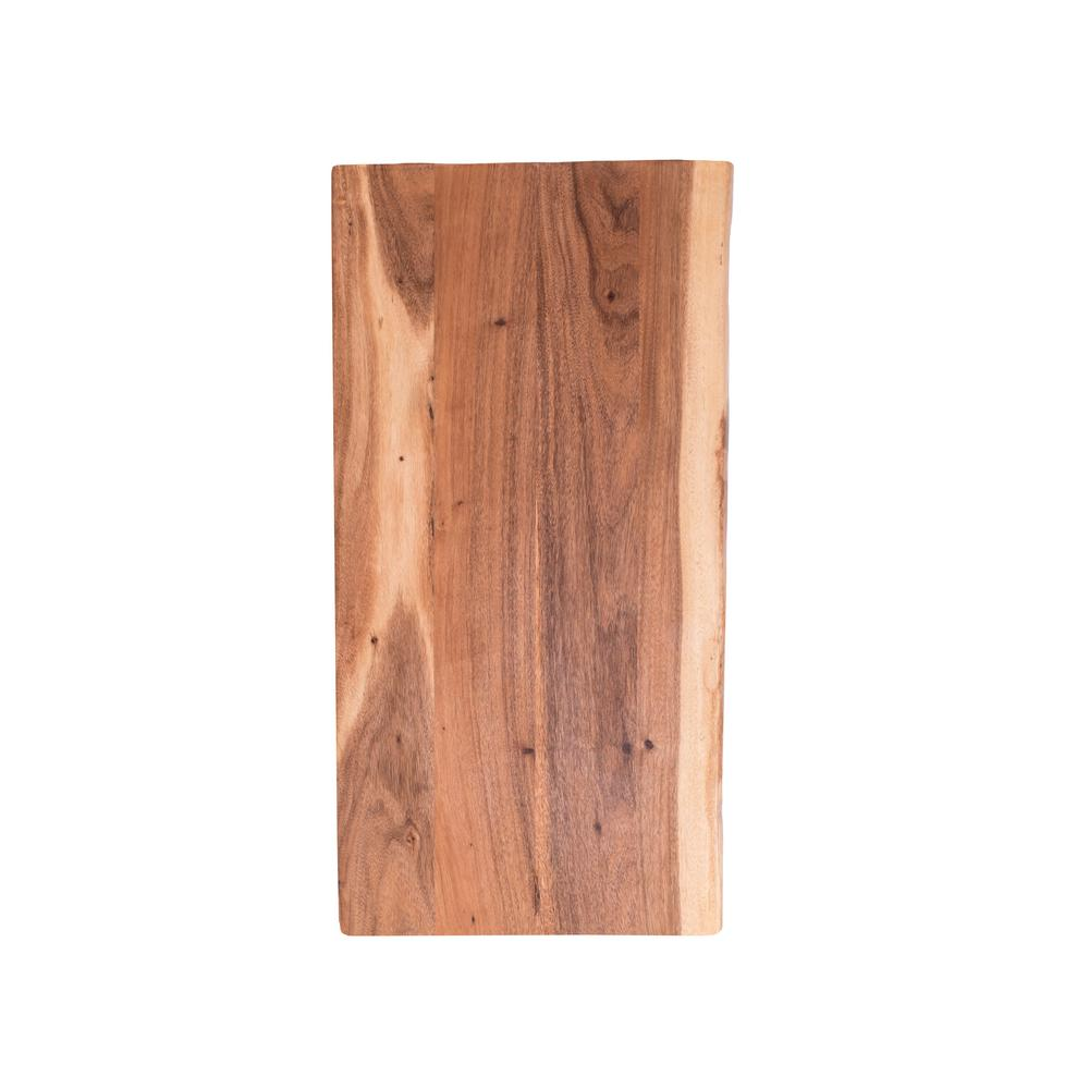 Hardwood Reflections Acacia 5 Ft L X 25 In D X 1 5 In T Butcher Block Countertop In Oiled Stain With Live Edge 1525hdaca 60 The Home Depot Butcher Block Countertops Live