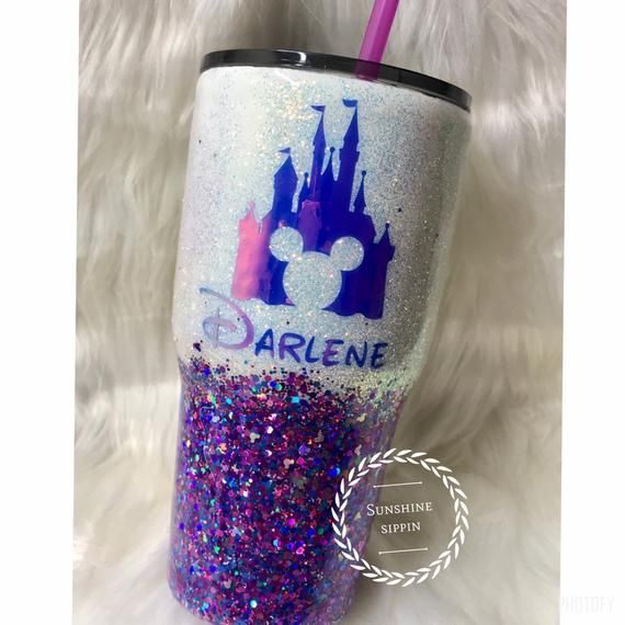 Disney Tumbler, Disney Castle Tumbler, Purple Disney Tumbler, Custom Disney Cup, Mickey Tumbler, Disney Mug #disneycups