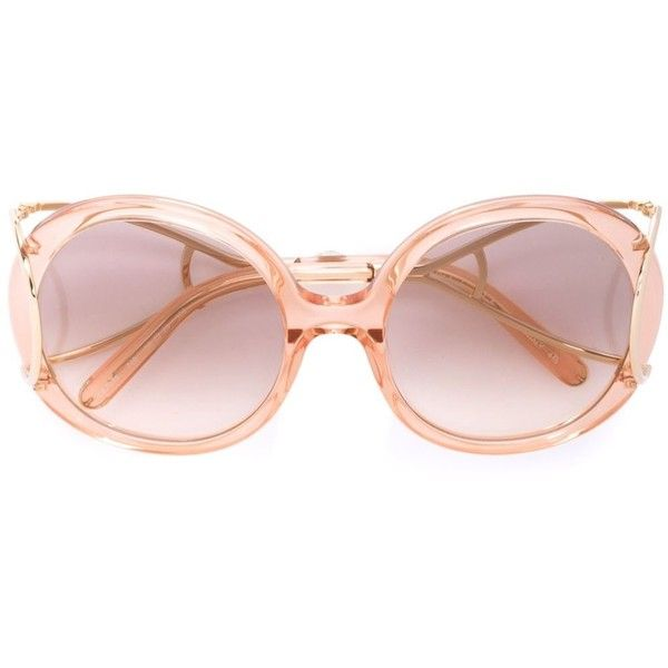 9c9d8d487e37 Chloé Eyewear  Jackson  sunglasses (£350) ❤ liked on Polyvore featuring  accessories