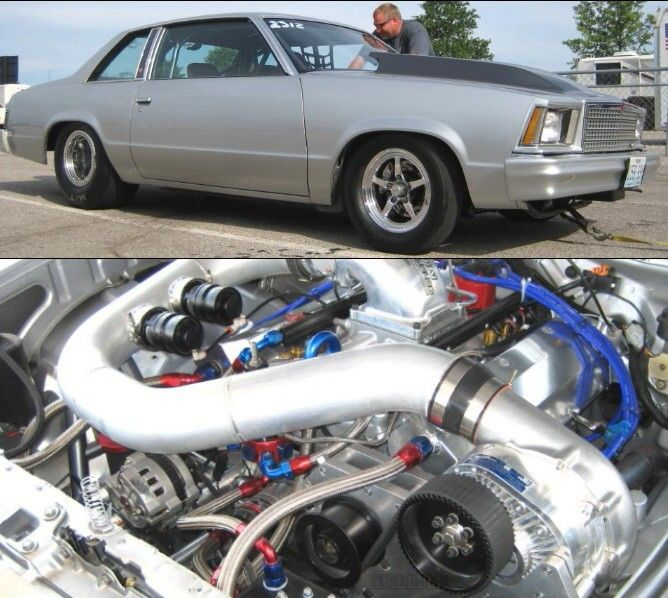 Turbo Harley Drag Race: Jim William's Malibu 540ci BBC With F2 Procharger