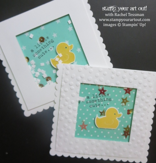 Whole Lot Of Shakin Going On Card Craft Stampin Up Baby Cards Shaker Cards