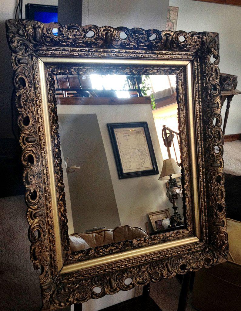 DIY Medicine Cabinet Using Old Picture Frame