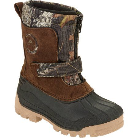 Ozark Trail Boys' Zip Front Camo Winter Boot