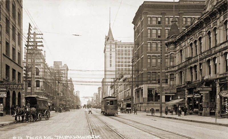 Pacific Avenue, Tacoma Washington, circa 1910 from a vintage, real photo postcard | WASHINGTON ...