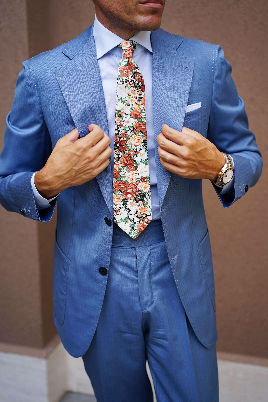 374e4d476425 San Pietro Orange Floral Tie | Danielre Photos | Floral tie, Tie, Classic  suit