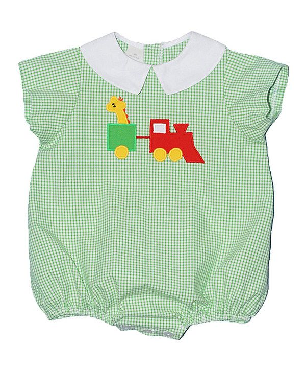 Look what I found on #zulily! Betti Terrell Green Toy Train Bubble Bodysuit - Infant by Betti Terrell #zulilyfinds