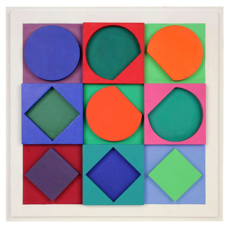 Vasarely Beryl Positif Wall Sculpture Sculptures