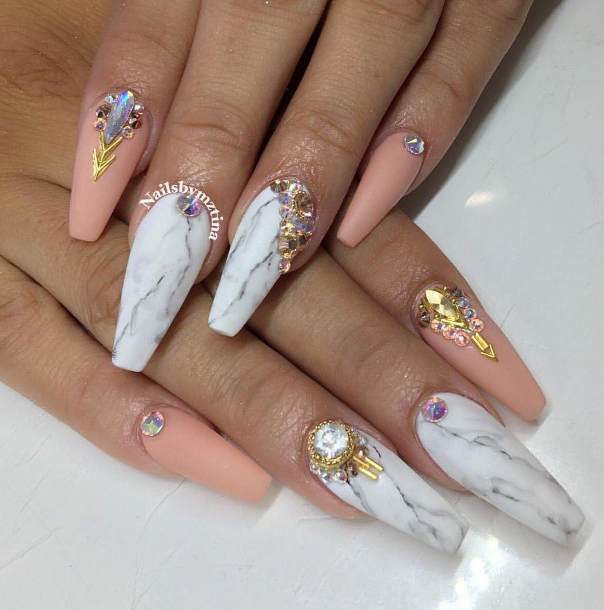 Pin by lina Mzo on Cute nails! | Pinterest | Nail nail, Coffin nails ...