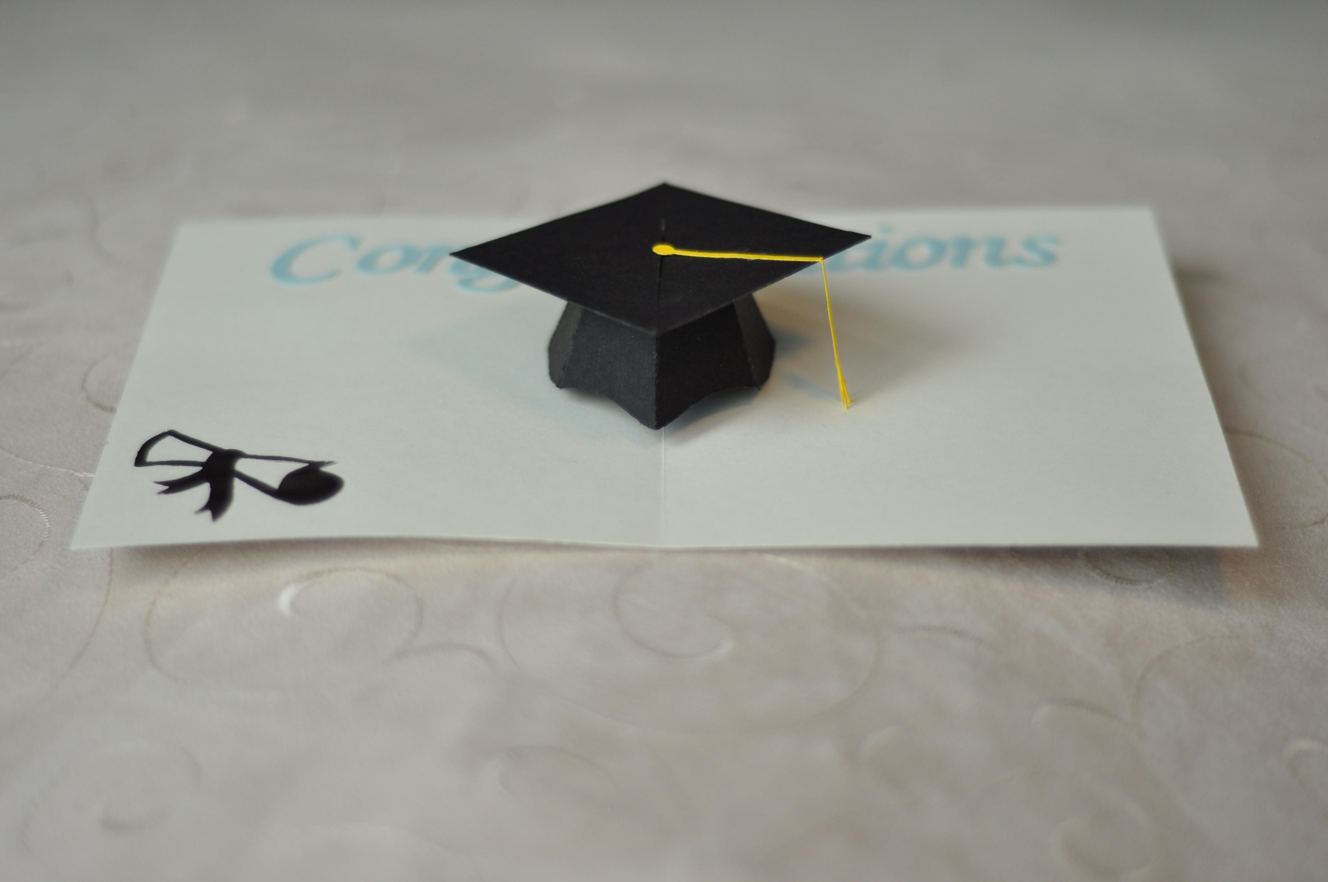 Graduation Pop Up Card: 3D Cap Tutorial | 3d, College graduation and ...