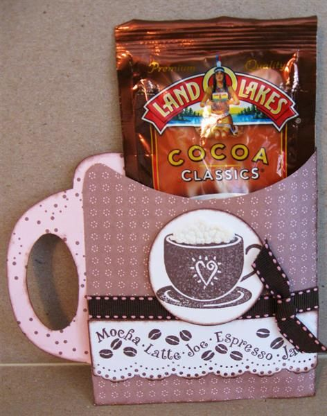 Cocoa Pakcet Holder Too Cute Hot Chocolate Gifts