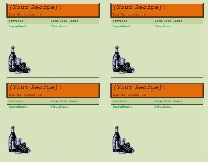 Card Templates For Word 10 Recipe Card Templates  Word Excel & Pdf Templates  Www .