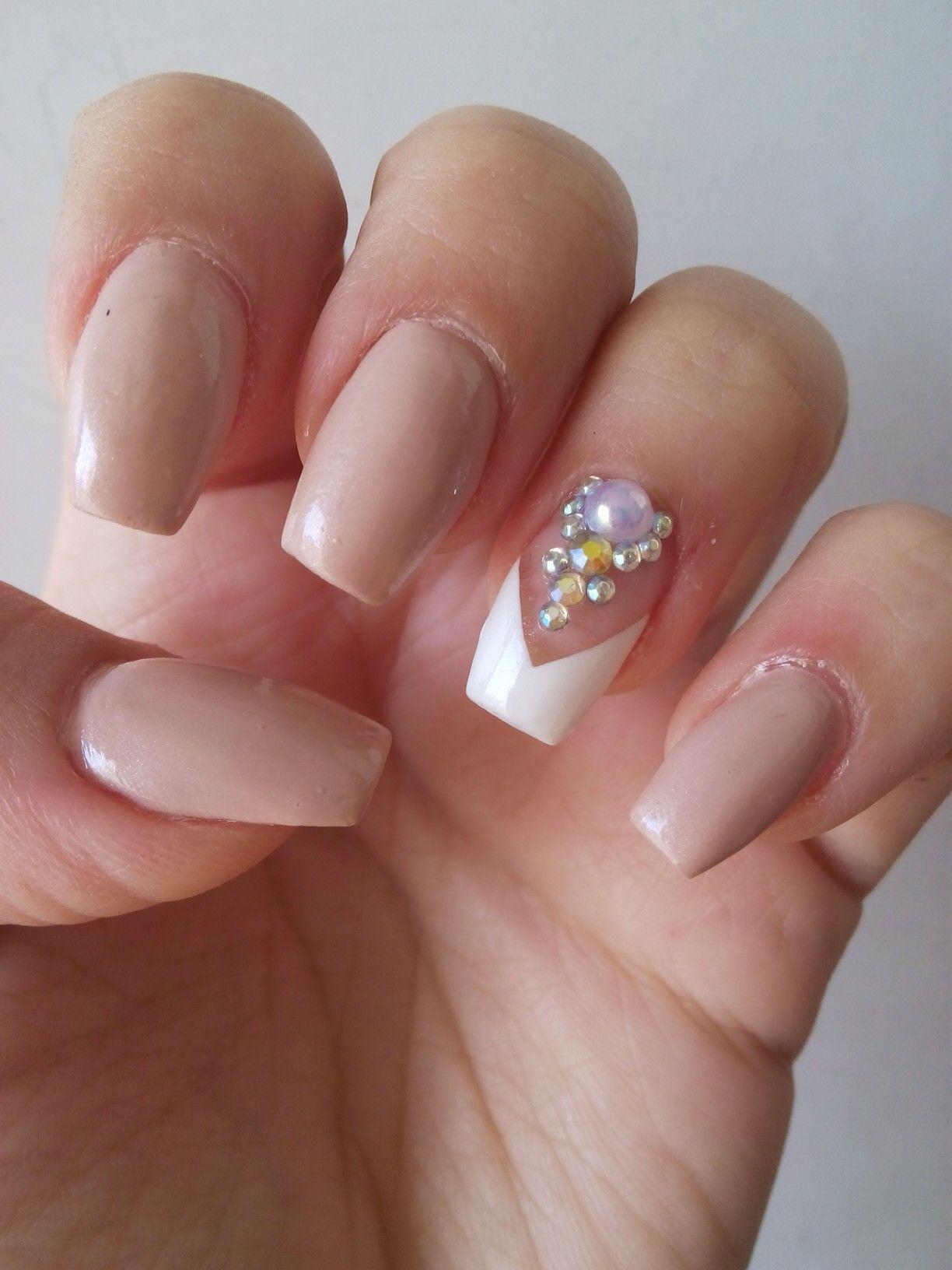 Uñas Color Beige Delicadas Cute Nails Uñas Beige Uñas