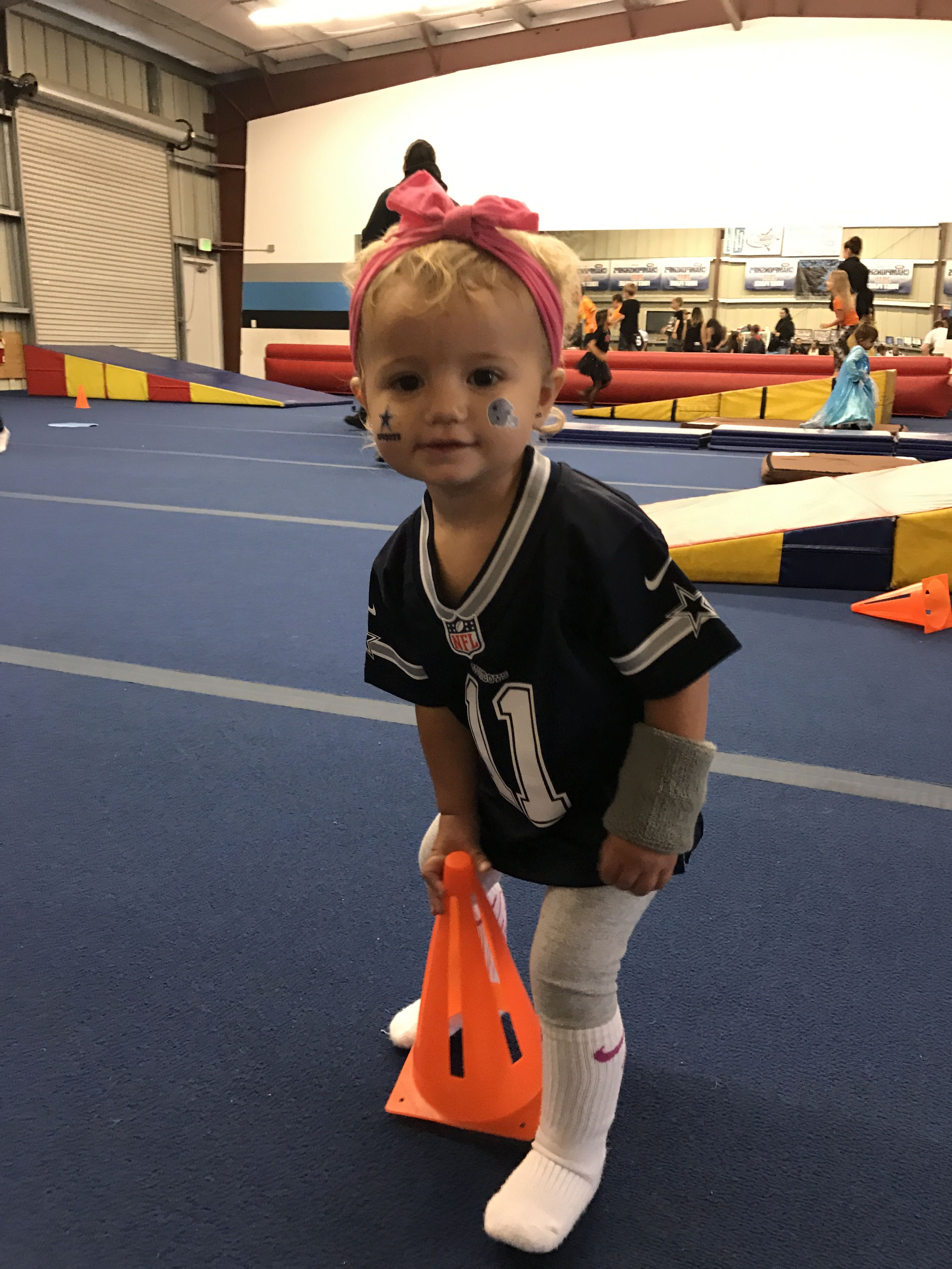 Diy Football Player Toddler Costume Dallas Cowboys Halloween