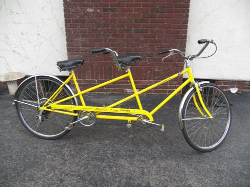 Aaron S Schwinn Twinn Tandem Bike He Calls It Banana Split