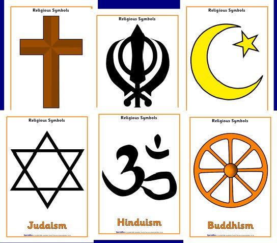Religious Symbols Posters SparkleBox Celebrations Around The - 6 major religions