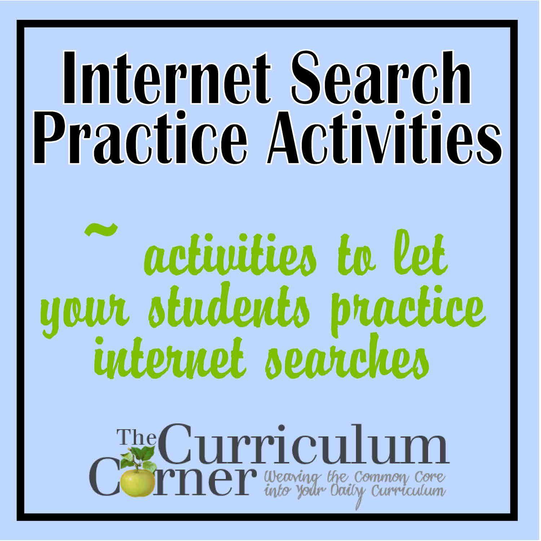 Internet Search Practice Activities