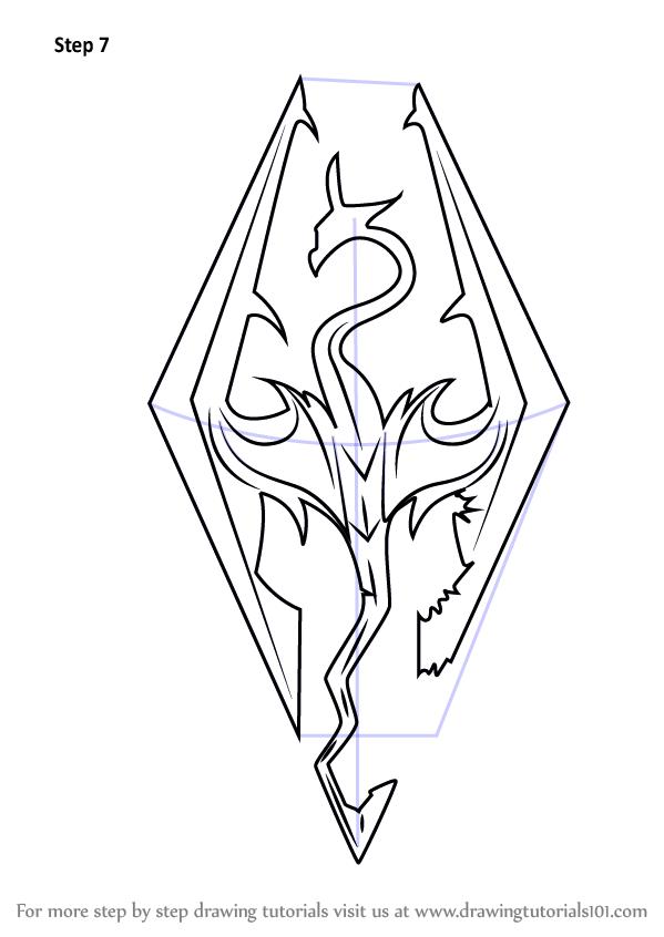 Learn How To Draw Skyrim Logo The Elder Scrolls V Skyrim Step By Step Drawing Tutorials Skyrim Tattoo Elder Scrolls Tattoo Skyrim Drawing