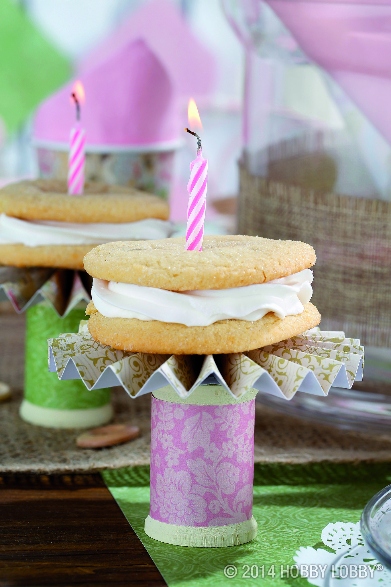 Create your own cookie pedestal with a painted wooden