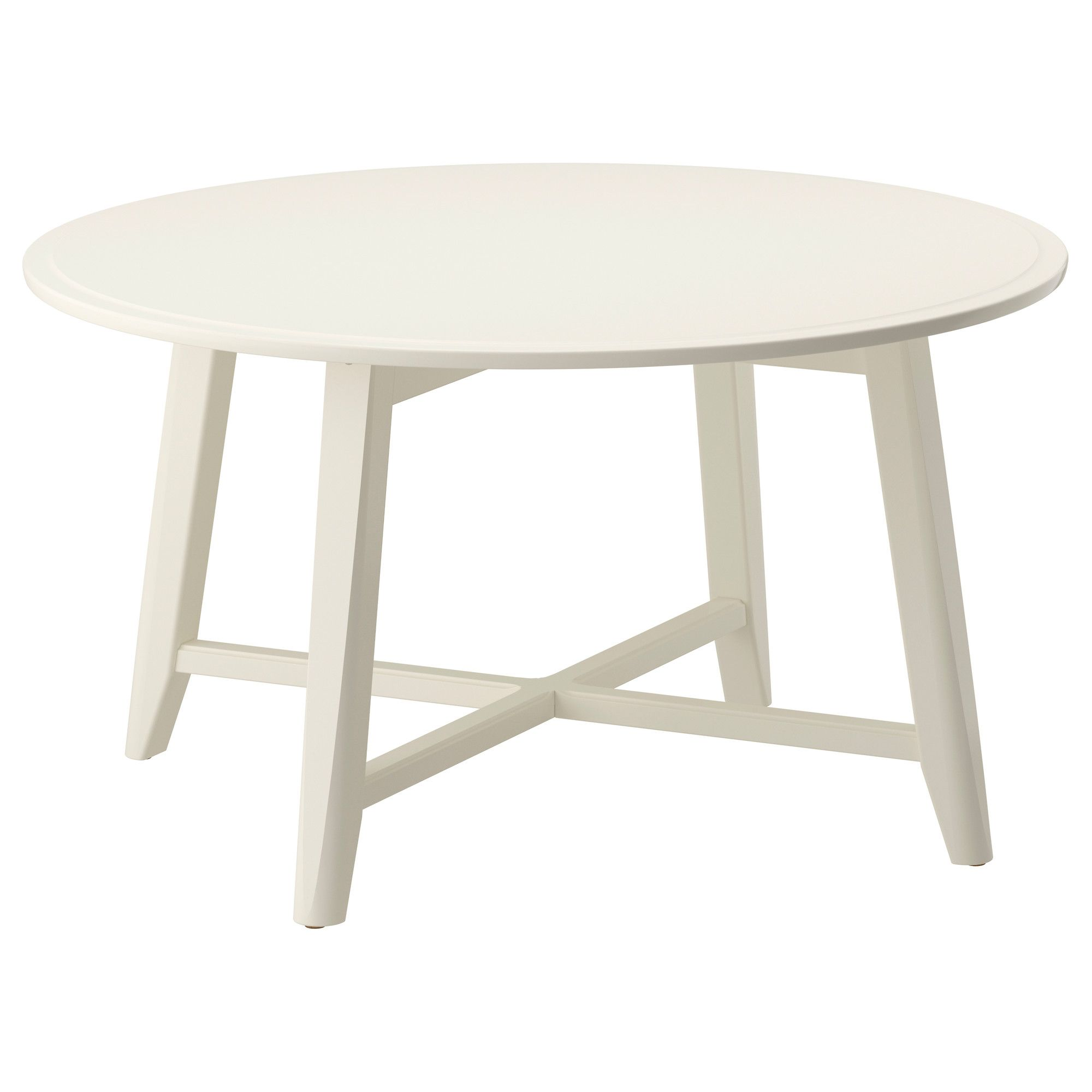 IKEA   KRAGSTA, Coffee Table, White, , The Round Shape Gives You A Generous Table  Top For Trays, Coffee Or Tea Services. The Dimensions Make The Table Easy  ...