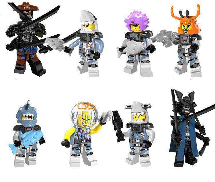 Minifigures Ninja Masters of Spinjitzu Movie  Building Blocks Toys Garmadon