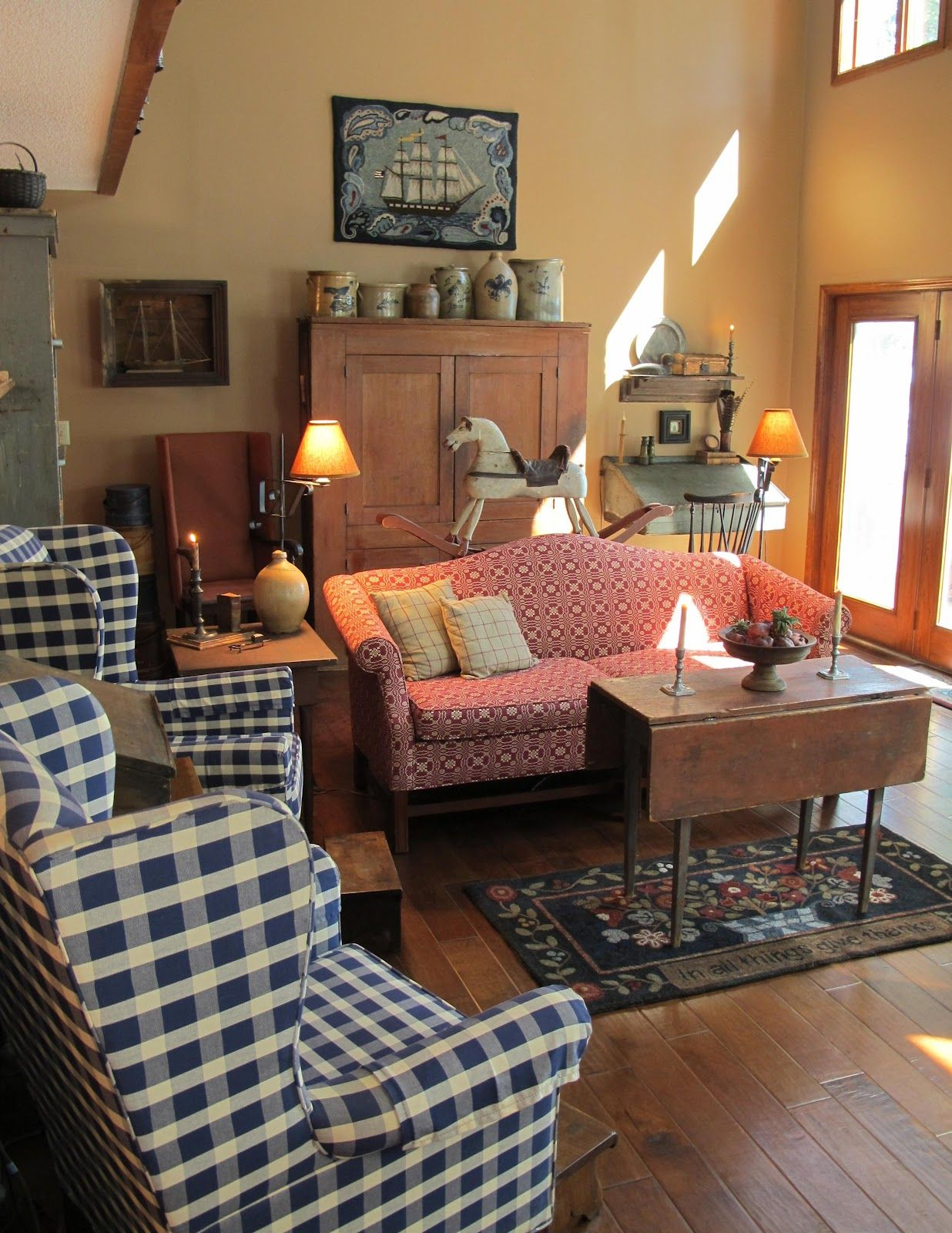 A primitive place country journal magazine summer 2012 - Primitive country living room ideas ...