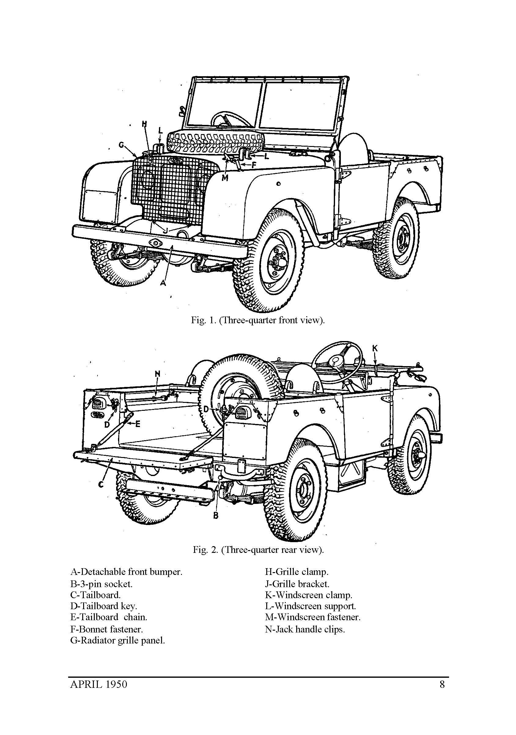The series 1 Landrover, a manual for it, is available here
