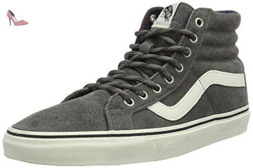 Vans UA Sk8-Hi, Sneakers Hautes Homme, Gris (Canvas), 41 EU