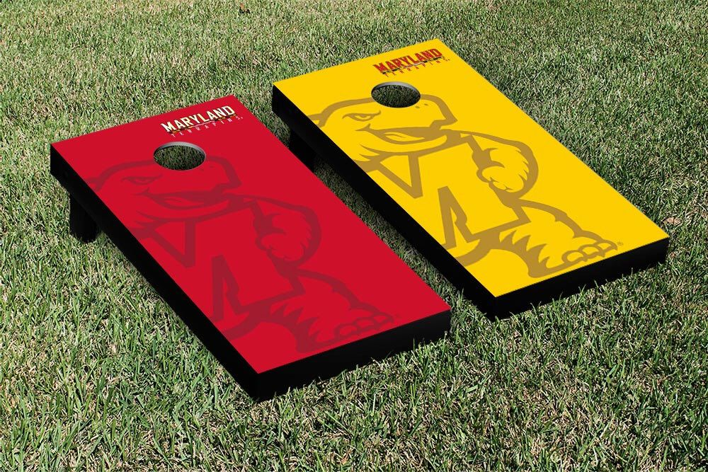 Maryland Terrapins Watermark Cornhole Boards by JRHCornhole on Etsy https://www.etsy.com/listing/204516351/maryland-terrapins-watermark-cornhole