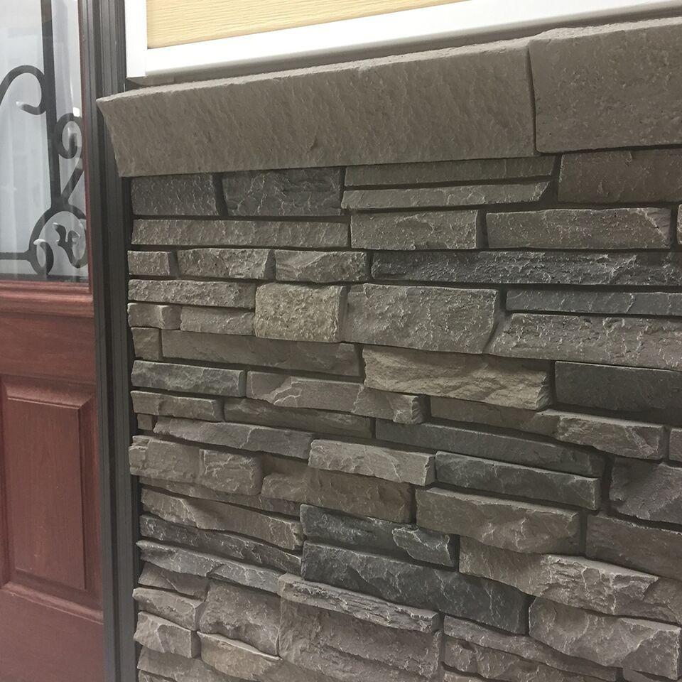 Quality Stone Stacked Stone Grey Blend Grey Gray