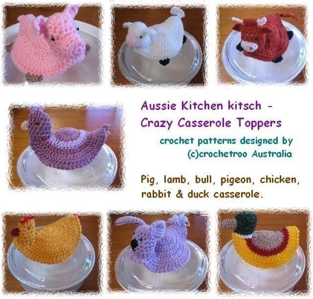 Crazy Casserole Pot Toppers - Crochet pattern by crochetroo on Etsy ...