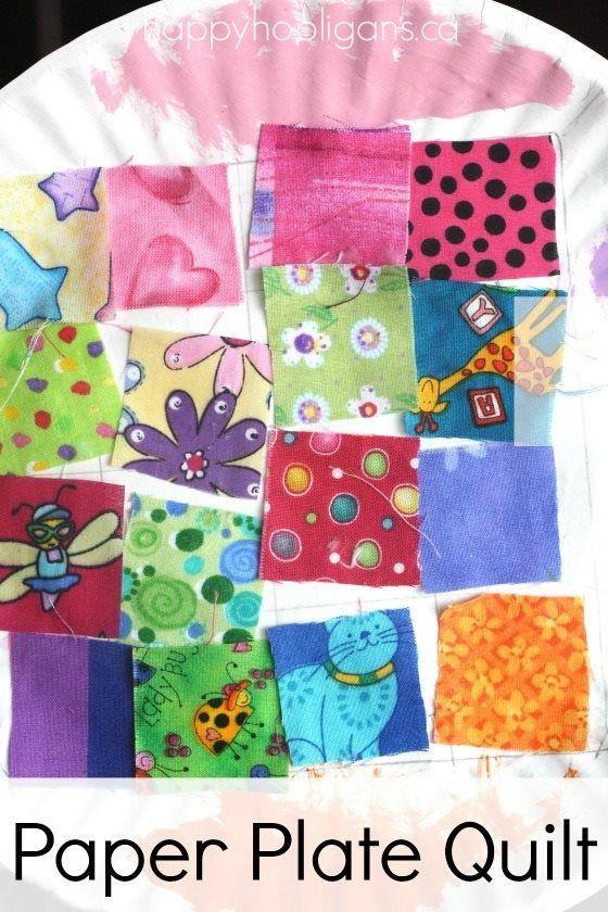 Paper Plate Quilt Craft Kids Crafts Preschool Crafts