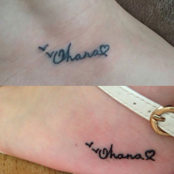 Ohana Means Family Quote Tattoo: Best Friend Ohana Tattoos, Ohana Means Family ♥️