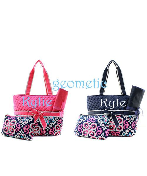 Monogram Geo Diaper Bag Twins By Awesomepersonalgifts