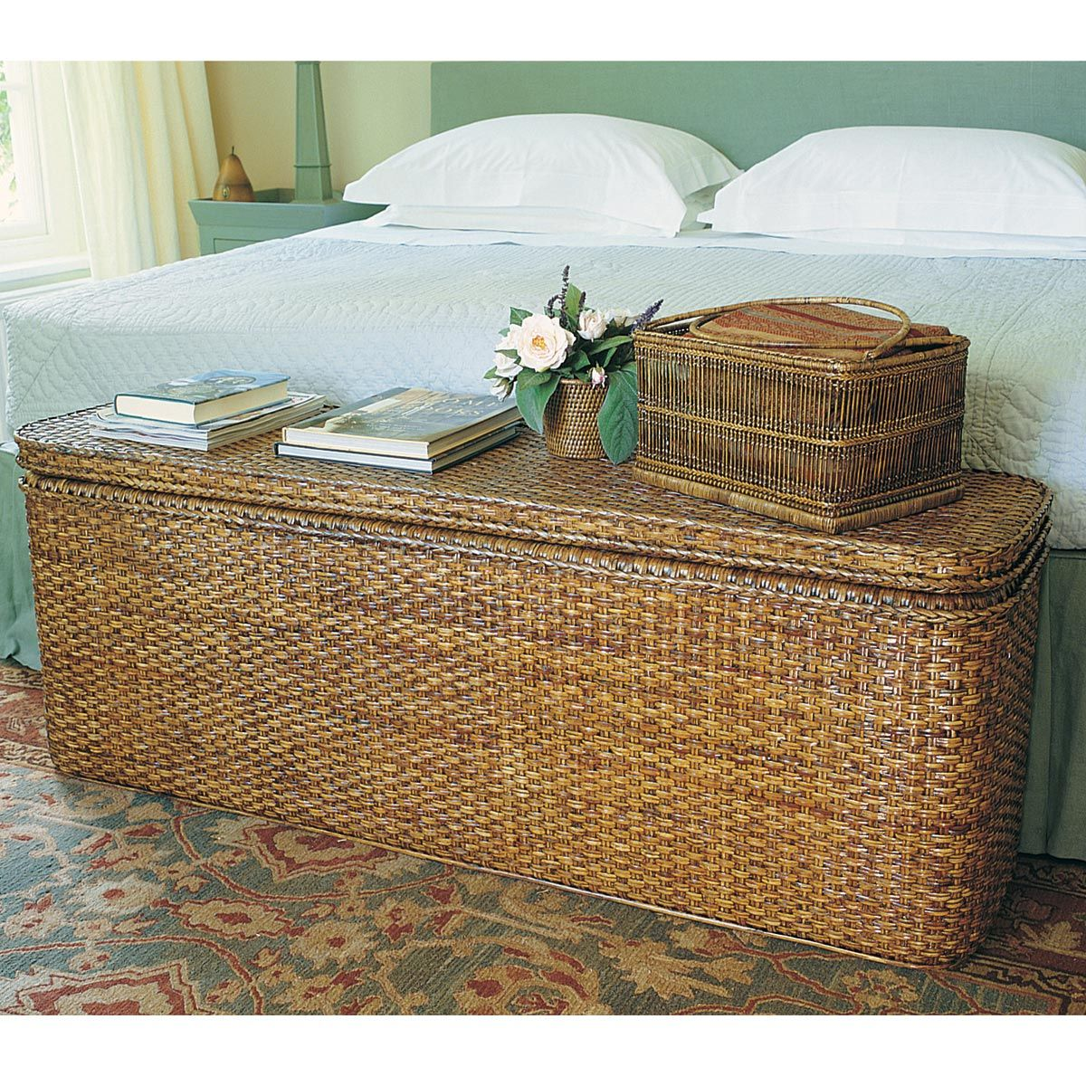 rattan indochine bed end chest to sleep perchance to 13869 | 95272ba8bc3a5eba2007073924b1b000