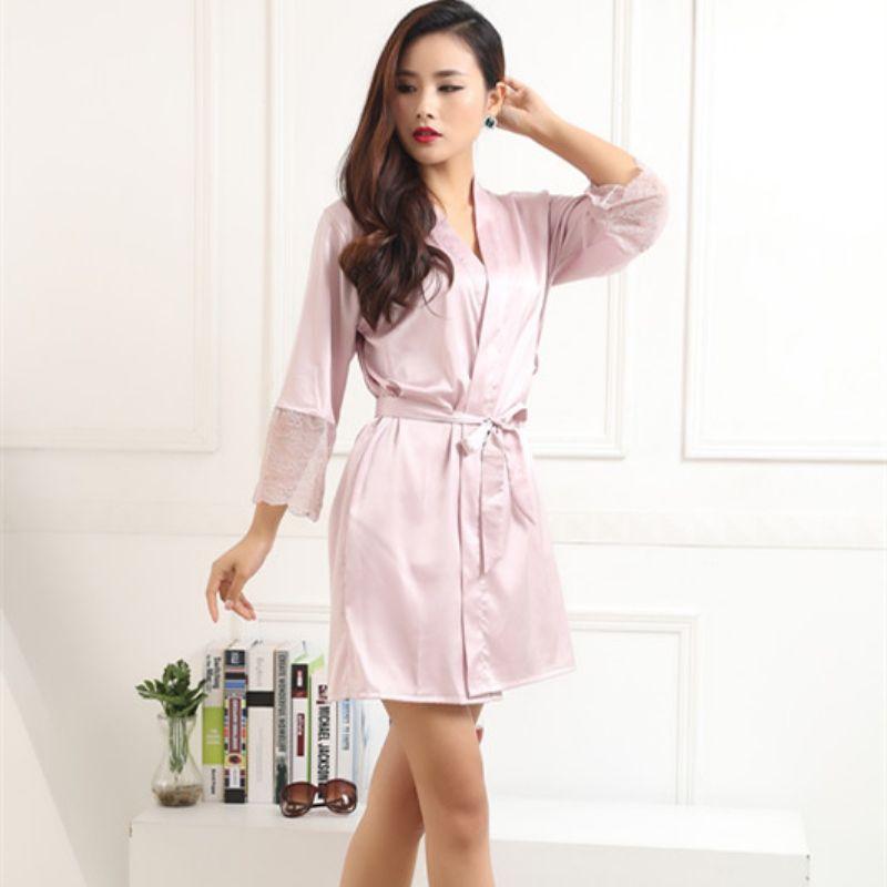 6093bfbbc4 ETOSELL Hot Sell Women Sexy Silk Satin Robes Kimono Nightwear Pajama Bath  Robe Nightgown With Belt Sleepwear Price  14.26   FREE Shipping  tops