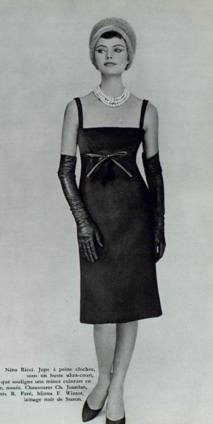 3dc685a8cedff8 1958 Nina Ricci   Mid-C Couture (1947-63)   Pinterest   Nina ricci ...