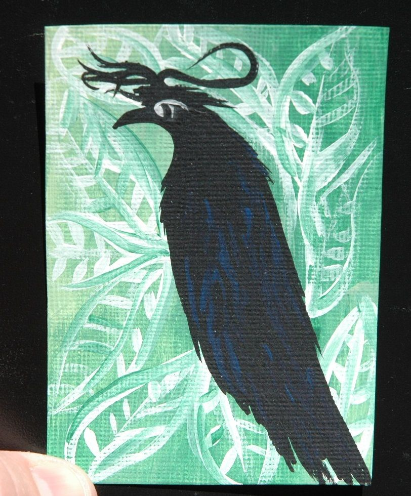 My First Four Letter Word Is Crow O This Is An Aceo Done With