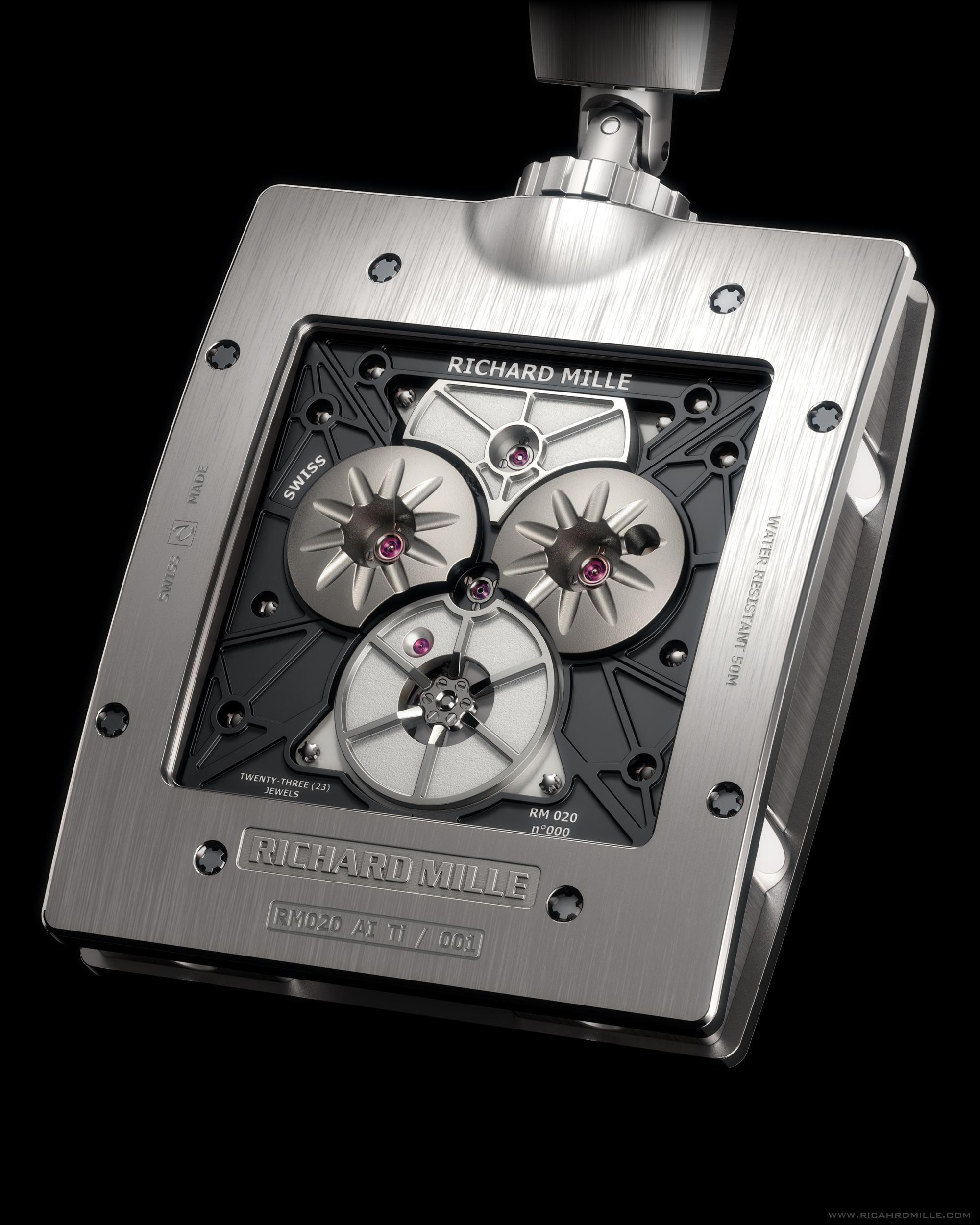 Richard Mille Rm 020 Pocket Watch Back Taschenuhr