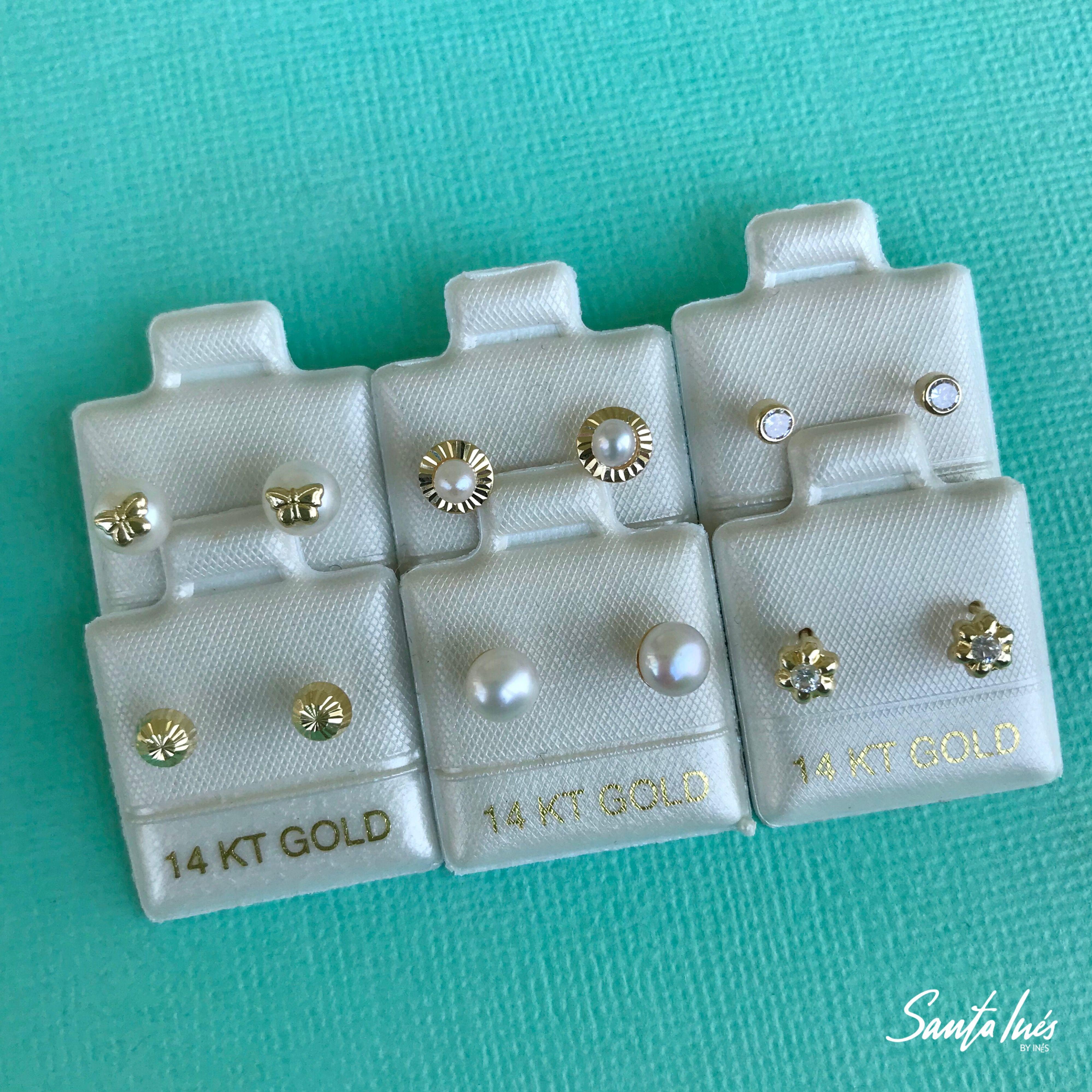0ed773ee5b4b Broqueles en oro 14k para bebé Santa Inés - Joyería